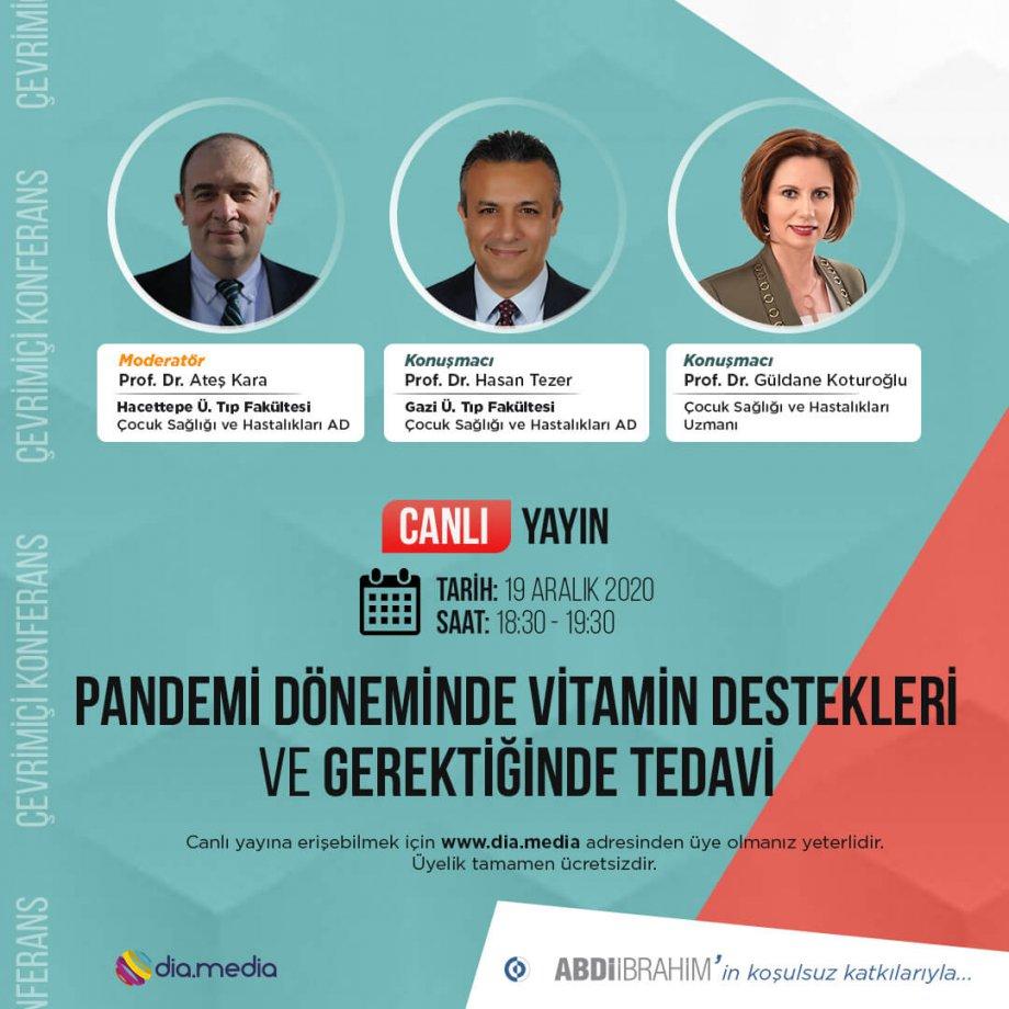 Pandemi Döneminde Vitamin Destekleri ve Gerektiğinde Tedavi